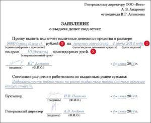 Образец служебной записки о выдаче денежных средств под отчет