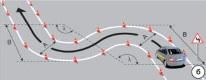 Как проехать змейку на автодроме автобусе