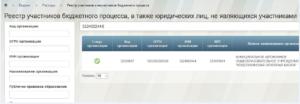 Код по реестру участников бюджетного процесса где посмотреть