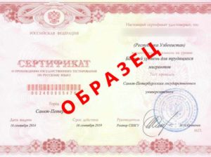 Как проверить подлинность сертификата о прохождении государственного тестирования по русскому языку