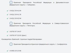 Номер телефона приемной путина бесплатный