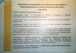 Заявление об изменении вида разрешенного использования испрашиваемого земельного участка