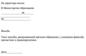 Куда написать жалобу на директора школы в москве