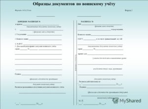 Бланки формы 4 воинский учет хранение