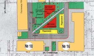 Сколько метров может быть прилегающая территория к зданию магазинов