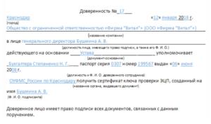 Доверенность на использование эцп руководителя по 44 фз