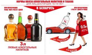 Сколько алкоголя можно ввозить в беларусь из украины
