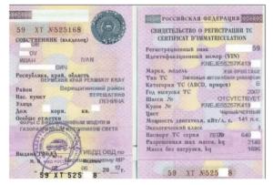 В свидетельстве о регистрации особые отметки